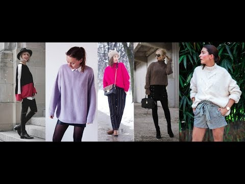 Fall 2018 & 2019 Winter - How to Wear Knitwear? LOOKBOOK - Fashion Trends 2018