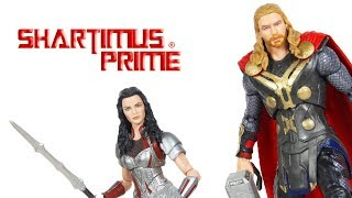 Marvel Legends Thor and Lady Sif Marvel Studios First 10 Years Thor The Dark World 2 Pack Review