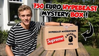 750 EURO HYPEBEAST MYSTERY BOX! | LACEDUP