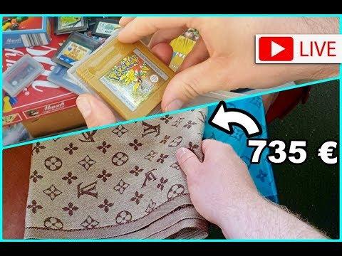 Louis Vuitton & Retro Games auf dem Flohmarkt / Geld verdienen mit Super Mario & Pokemon Resell