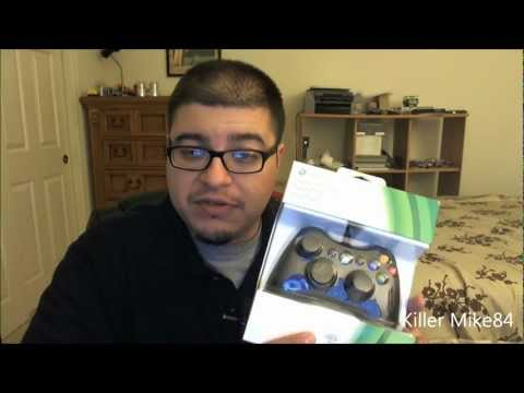 Unboxing & Review Microsoft Xbox 360 Controller for Windows Manette Black