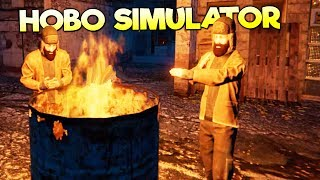 MY SUMMER HOBO SIMULATOR?! SLEEPING IN BOXES AND EATING PIGEONS! - Hobo Tough Life Gameplay