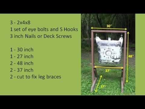 DIY Archery Bag Target Frames