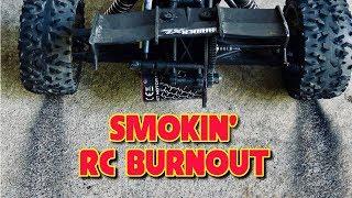 RC Car Burnout - Smoking Tires!