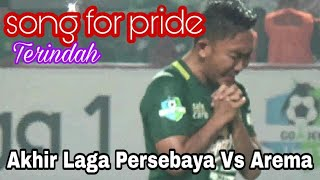 Merinding..!!Tangis haru Pemain dan official Persebaya | this's song for pride