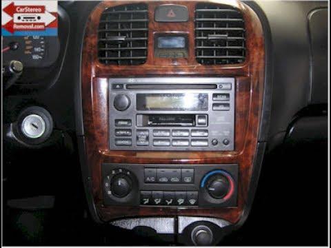 Hyundai Sonata Car Stereo Removal