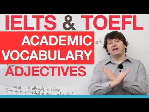IELTS & TOEFL Academic Vocabulary – Adjectives