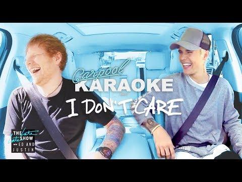 "Download Lagu  Ed Sheeran and Justin Bieber '""I Don't Care"" Carpool Karaoke Mp3 Free"