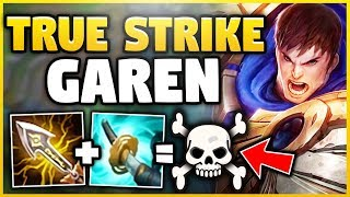 YOU'RE ALL PLAYING GAREN WRONG! ABUSE THIS BUILD BEFORE GAREN GETS NERFED! - League of Legends