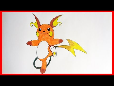 How to draw pokemon Raichu № 26