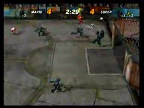 super mario strikers Mario VS Super team