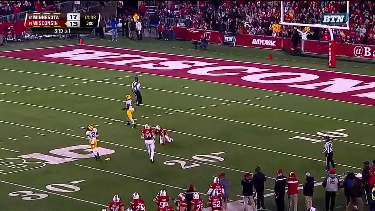 Cedric Thompson vs Wisconsin (2014)