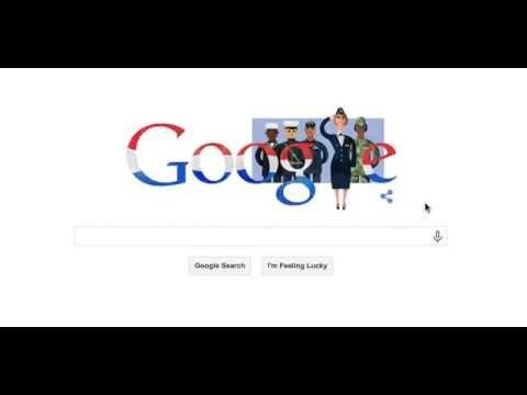 Veterans Day Google Logo 2014 Google Doodle Veteran's Day