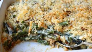 French Onion Green Bean Casserole Recipe - Thanksgiving Green Bean Side Dish