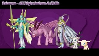 Digimon Masters Online: Salamon - All Digivolutions & Skills