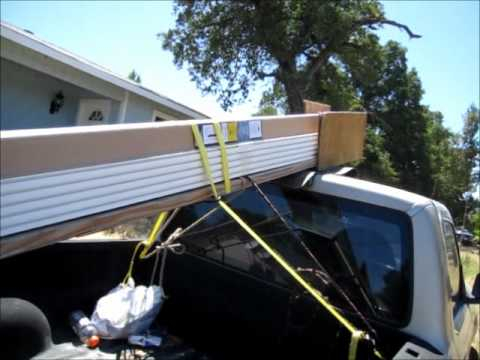 Roof Rack Ladder >> How To Make A Homemade Lumber Rack - Haul Long Boards On A Short Truck - YouTube