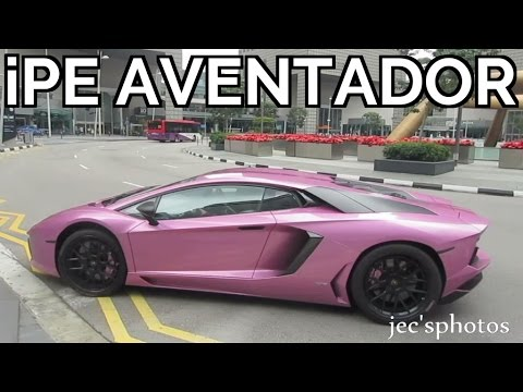 PINK Lamborghini Aventador with Innotech Performance Exhaust - LOUD Startup, Revs and Acceleration