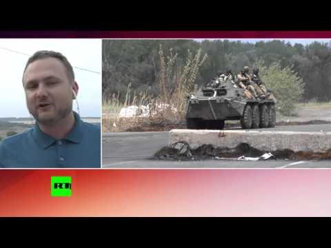Украинские БТР нарушили российскую границу