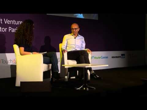 Satya Nadella & Roxanne Varza, about future of Mircrosoft & startups