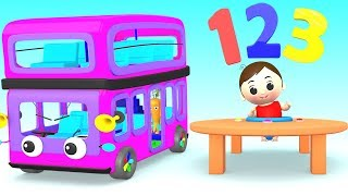 The Wheels On The Bus - Little Baby Funny Game Play to Learn Numbers for Children with Cartoons