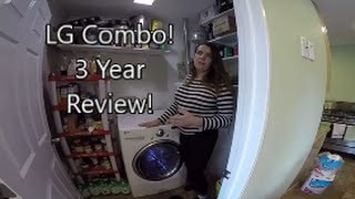 LG Washer Dryer Combo Unit....Our THREE YEAR Review!