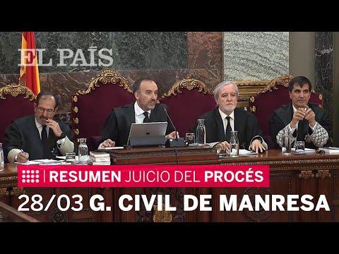 Declaración del Teniente guardia civil de Manresa en la vigésimo cuarta sesión del juicio del procés