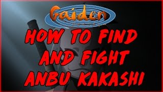 Roblox | Ninja Heroes Online Adventure | How to Find and Fight Anbu Kakashi Easy Mode | iBeMaine