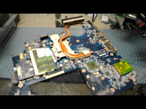 HPReflow.com basic laptop repair for a HP DV7 laptop with a bad AMD