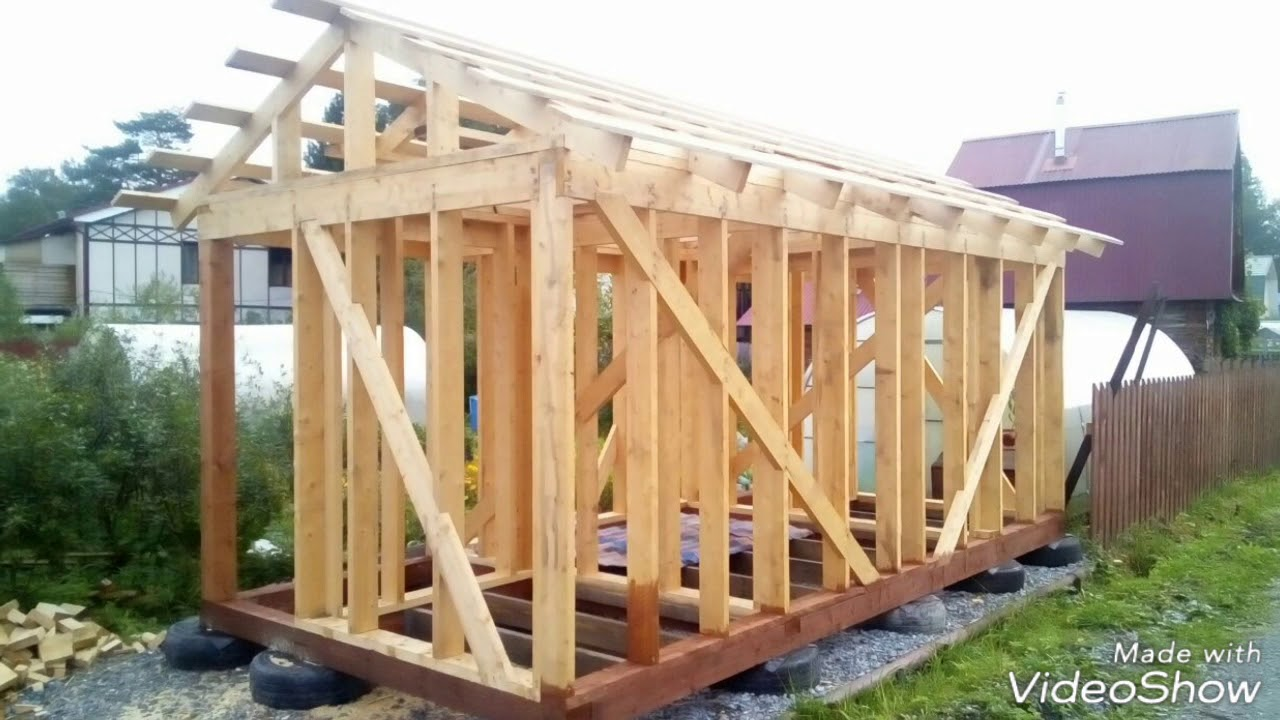 Пошаговое строительство сарая своими руками 28