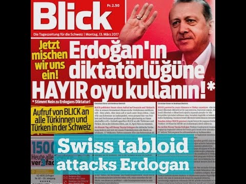 Swiss tabloid attacks Erdogan