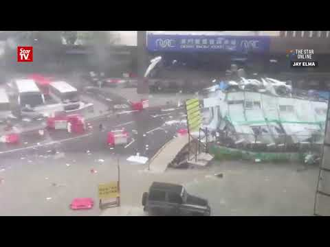 Three dead after Hato slams Macau