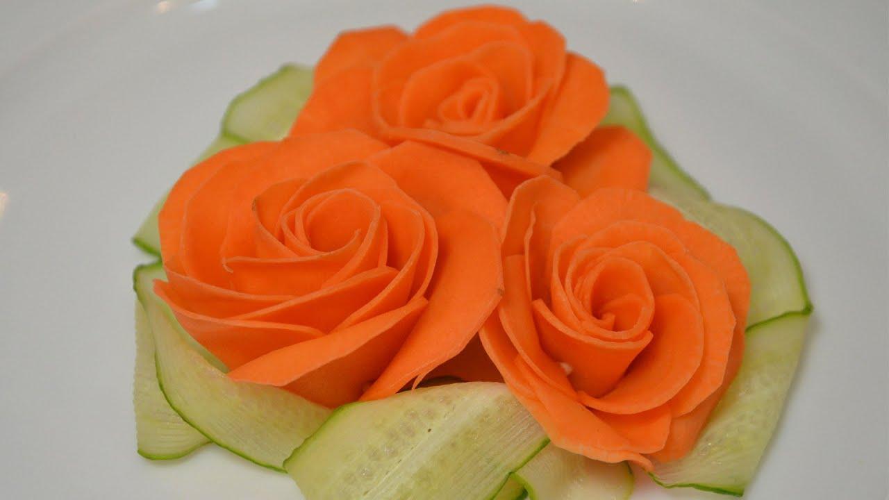 Сделать цветы из моркови своими руками 15