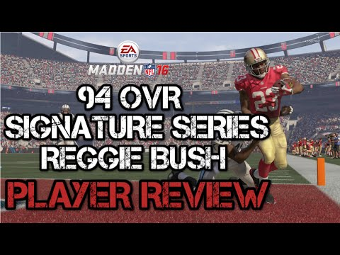 94 OVR Signature Series Reggie Bush | Player Review | Madden 16 Ultimate Team Gameplay | MUT 16