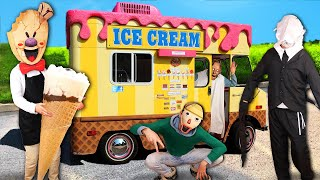 ROD and BALDI sells Ice Screams in REAL LIFE