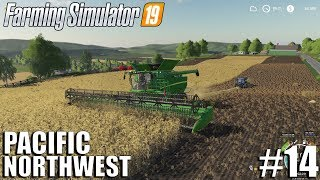 HARVESTING THE NEW FIELD | The Pacific NorthWest | Timelapse #14| Farming Simulator 19 Timelapse