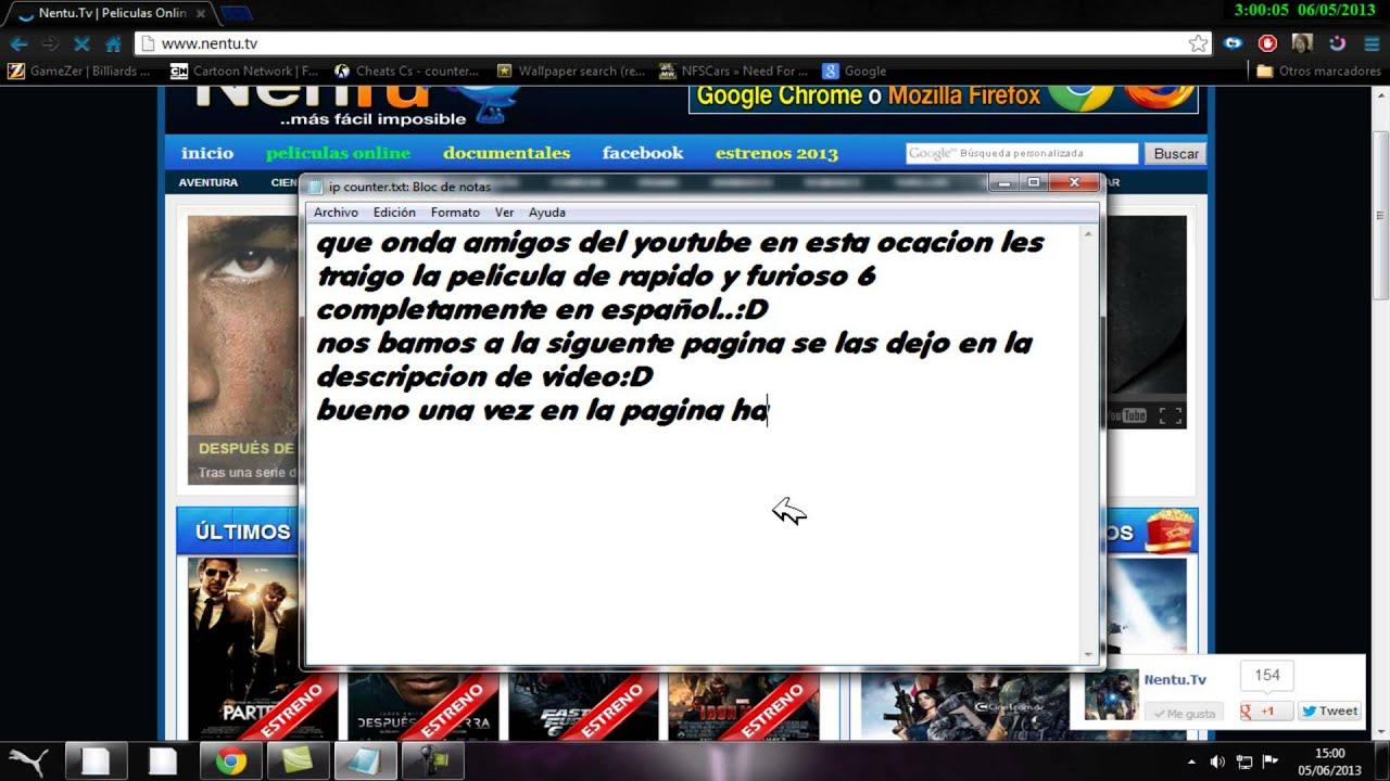 como ver rapido y furioso 6 en (español latino) 2013 - YouTube