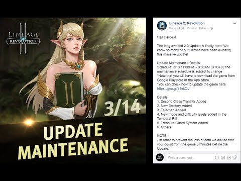 Lineage 2 Revolution 2.0 Upcoming Update Reviews