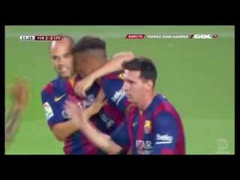 FC Barcelona vs Club Leon 6:0 Leo Messi Goal ~ Friendly Match 2014