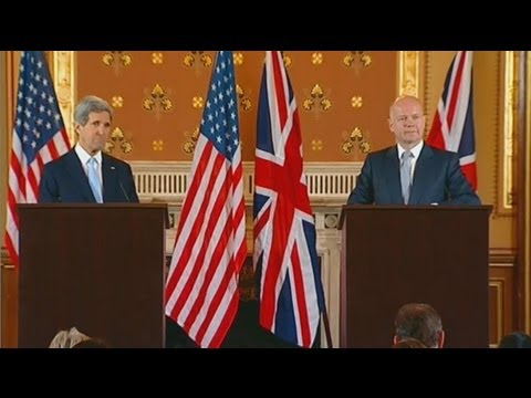 Secretary Kerry Delivers Remarks With U.K. Foreign Secretary William Hague