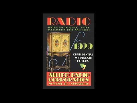 1929 Allied Radio - The FIRST Allied Catalog !!!