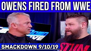 WWE SDLIVE 9/10/19: McMahon FIRES Kevin Owens, Undertaker RETURNS & Bayley REJECTS Charlotte Flair!