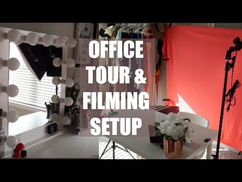 BACKDROP SHOPPING, OFFICE TOUR AND FILMING SETUP!!
