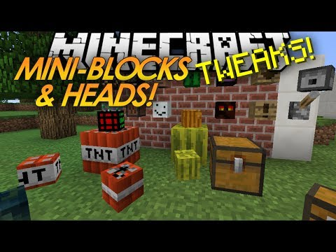Minecraft Tweaks: MINI-BLOCKS! Baby TNT! MOB HEADS!