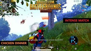 PUBG MOBILE | INTENSE MATCH CHICKEN DINNER IN SANHOK MAP FUN GAMEPLAY