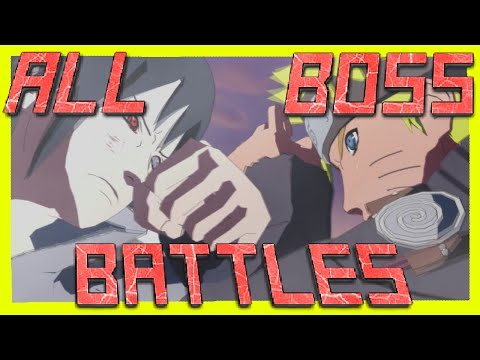 Naruto Storm Series - ALL BOSS BATTLES! [S-Rank]
