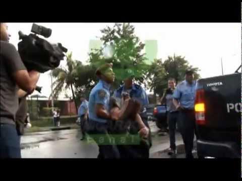 Taxista Atropella A Policia Managua-nicaragua