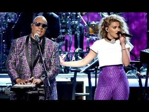 Tori Kelly and Stevie Wonder - Take Me With U by Prince at the BET Awards 2016