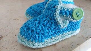 Crochet T Bar Baby Shoes Easy Tutorial All Sizes Viyoutube