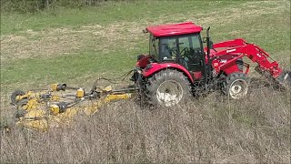 BUSHWHACKER MD-144 12 foot Batwing mower devours 10' high Illinois CRP! Kapper Outdoors