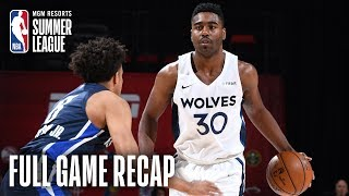 MAVERICKS vs TIMBERWOLVES | Minnesota is Moving On  | MGM Resorts NBA Summer League